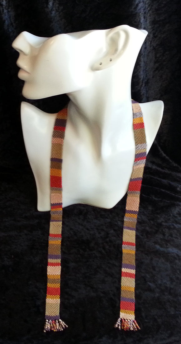 4th Doctor Doctor Who beaded scarf necklace