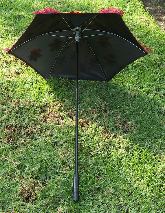 KC Dragonfly - Autumn Leaves Parasol - inside