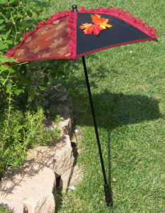 KC Dragonfly - Autumn Leaves Parasol - side view open