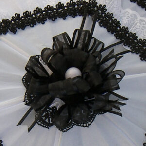 KC Dragonfly - Black and White Mae West wedding parasol v2.jpg - bow details