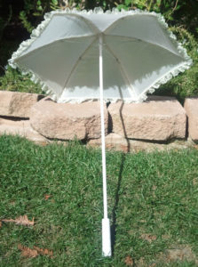 KC Dragonfly - Wedding Basic Off White parasol - top - interior